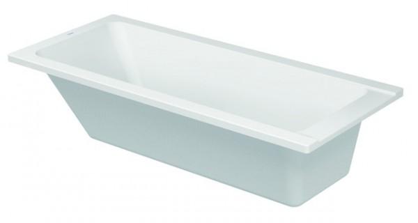 DU Badewanne D-Code 1700x750mm Einbauversion, Ablauf Fußbereich, weiß