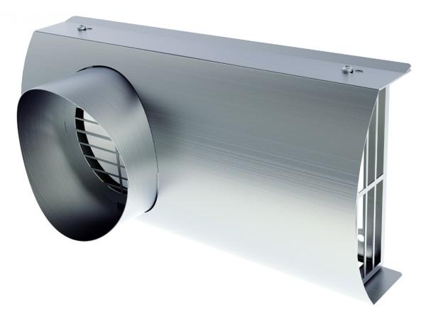 IP-FKB 125 lackiert, Isopipe-Fassaden-Kombiblende DN 125 universell einsetzbar