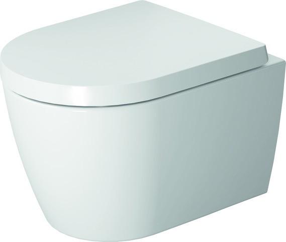 DU Wand-WC ME by Starck Compact 480 mm Tiefspüler, rimless, Durafix, weiß HyG