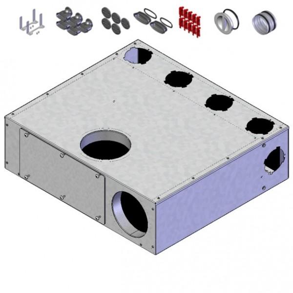 Helios FRS-MVK 4+1-51/125 Multi-Verteilerk. 5xOval 51, 2 x DN 125