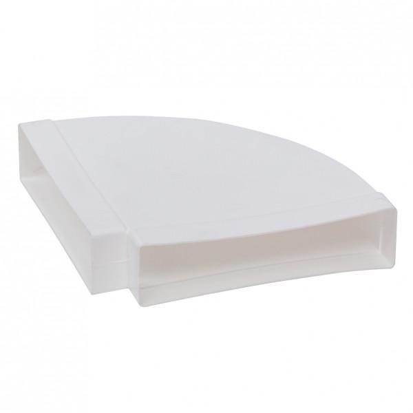 FBH 90, Flachkanal-Bogen horizontal, 90 Grad, Kunststoff weiß