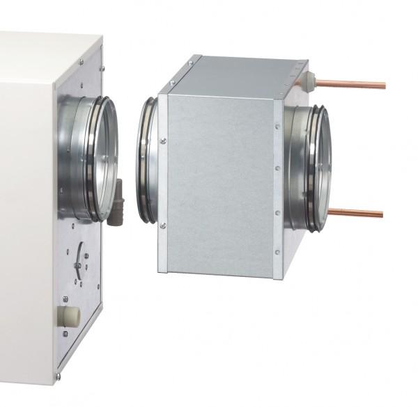 KWL NHR 500, Niedertemperaturheizregister zu KWL HB 500 bei NT-Heizsystemen