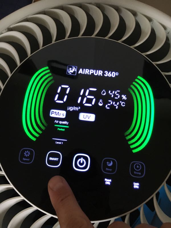Raumluftfilter Airpur 360° Display