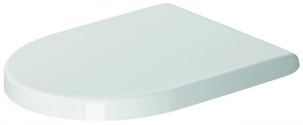 DU WC-Sitz Starck 3 ohne SoftClose Scharniere edelstahl, weiß