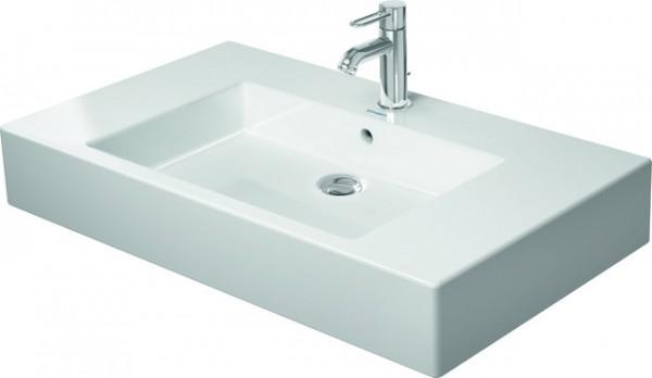 DU Möbelwaschtisch Vero 850 mm mit ÜL, mit HLB, 1 HL, weiß WonderGliss
