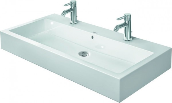 DU Waschtisch Vero 1000 mm m.ÜL, m.HLB, 2 HL, geschl., weiß WG