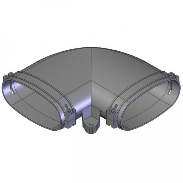 Helios FRS-BH 51 Bogen Horizontal 90 Grad, Rohr Oval 51