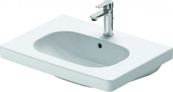 DU Möbelwaschtisch D-Code 650 mm mit ÜL, mit HLB, 1 HL, weiß