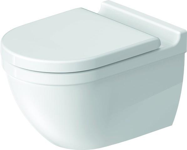 DU Wand-WC Starck 3 540 mm Tiefspüler, rimless, Durafix, weiß