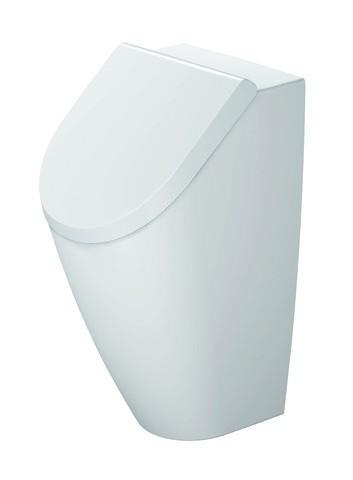 DU Urinal Rimless ME by Starck, weiß Abgang waagrecht, Ausführung f. Deckel
