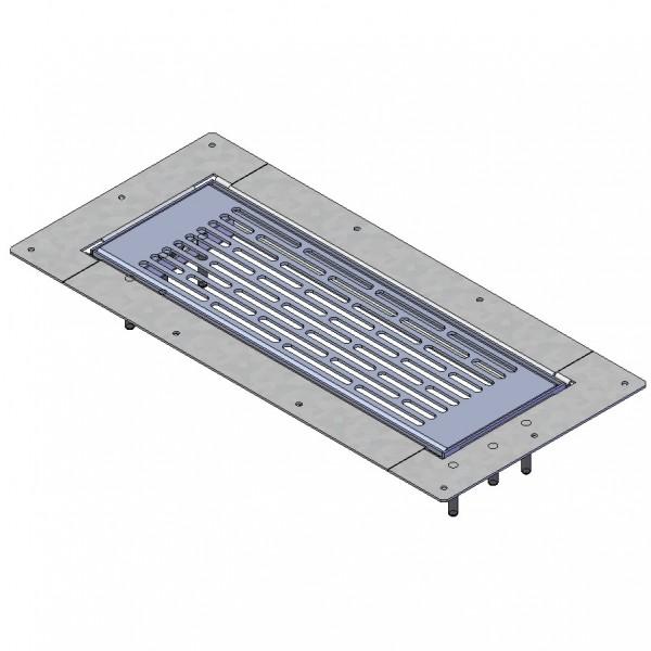FRS-BGS 1, FlexPipe Boden-Gitter-Set für Multi-Boden-Kasten für Bodengitter