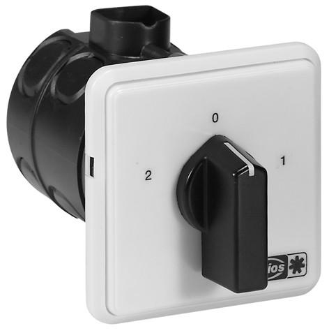 PDU 12, UP-Polumschalter für Motoren mit Dahlander Wicklung, 3-PH 400 V, max.12 A,IP 30