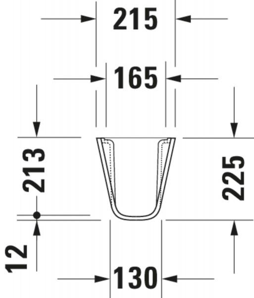 DU Halbsäule D-Code für 070545, weiß