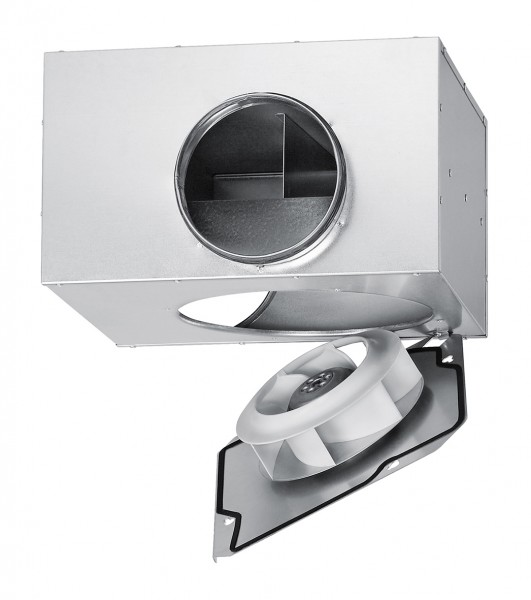 SVS 160 K, SlimVent schallgedämpfter Radialventilator mit Rohranschluß DN 160mm