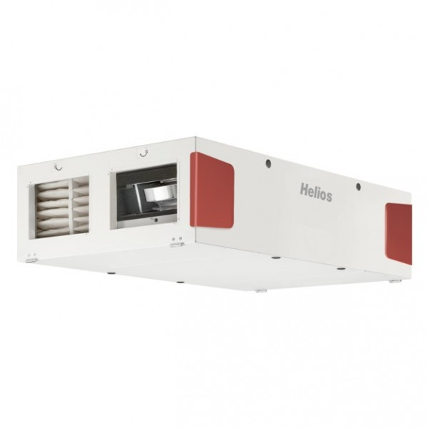 KWL EC 1400D PRO WW, KWL-Deckengerät mit WRG EC-Ventilatoren, el. VH, WW-NH Auto-Bypass, Grafikdispl