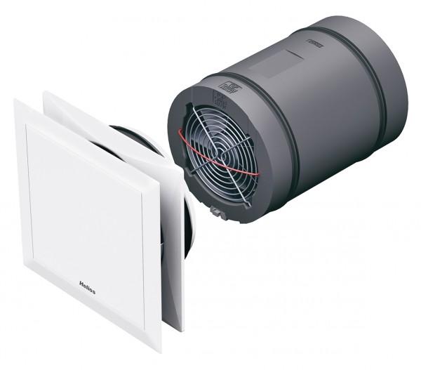 Helios KWL EC 45-160 Geräteeinheit DN 160, kpl. mit Innenblende und Filter