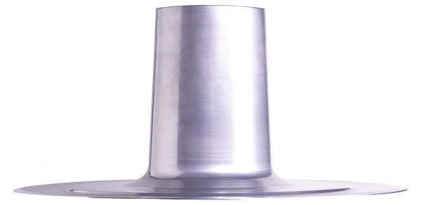 FDP 100, Alu-Dachpfanne für Flachdach DN 100 mm zu Dachhaube DH 100