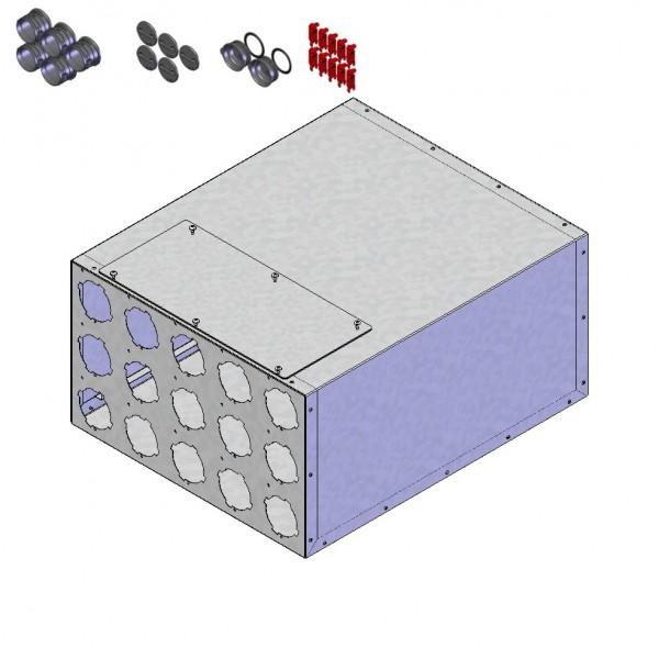 Helios FRS-VK 15-75/180 Verteilerkasten 15 x DN75, 1 x DN180