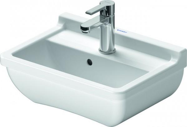 DU Handwaschbecken Starck 3 450 mm mit ÜL, mit HLB, 1 HL, weiß WonderGliss