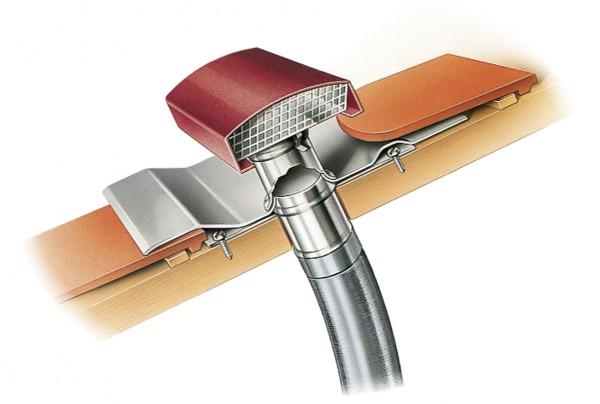 DDF 160 G, Dachdurchführung für Rohrdurchmesser 160 mm Dachhaube schiefergrau lackiert