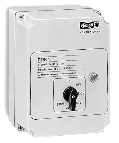RDS 4, Trafo-Drehzahlsteller mit Motorvollschutzeinrichtung 3-PH 400 V, 4,0 A
