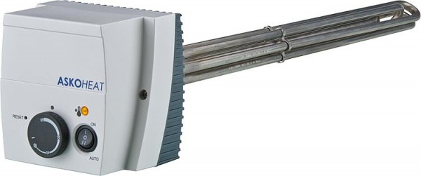 """Einschraubheizkörper mit Schalter 6,0 KW 11/2"""" 230V AC/3x400 V AC Länge: 600mm"""