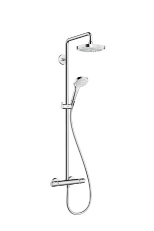 HG Showerpipe Croma Select E 180 weiss/chrom