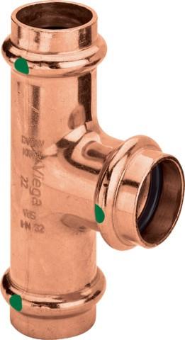 Viega T-Stück mit SC Profipress 2418 in 22x15x18mm Kupfer