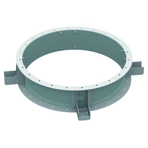 MRV 355, Montagering für Ventilatoren zur vertikalen Befestigung geschraubte Ausführung