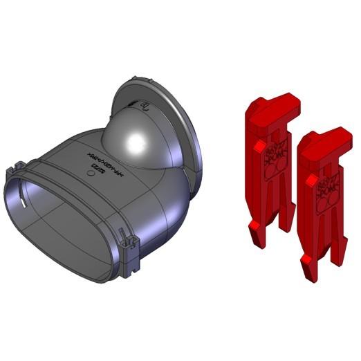 FRS-ES 51, FlexPipe Einzelstutzen Oval 51 mit Bajonett- Verschluss für Blechteile