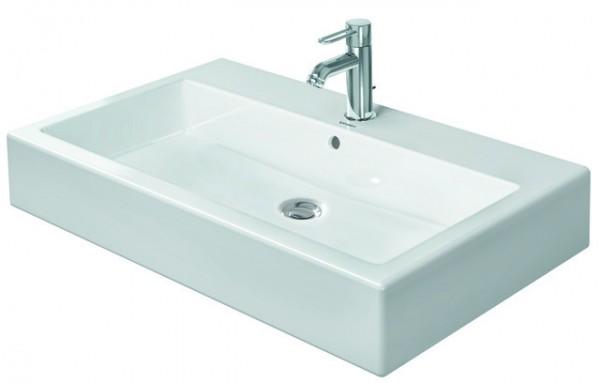 DU Waschtisch Vero 800 mm mit ÜL, mit HLB, 1 HL, weiß WonderGliss