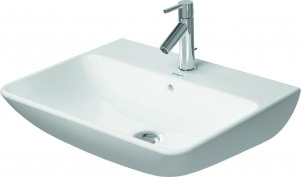 DU Waschtisch ME by Starck 600 mm mit ÜL, mit HLB, 1 HL, weiß