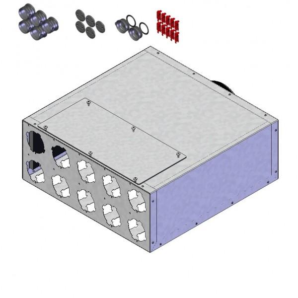 Helios FRS-VK 10-75/160 Verteilerkasten 10 x DN75, 1 x DN160