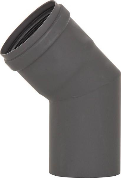 Pellet-Abgasrohr-Bogen 45° Drm. 80mm, lackiert mit Silikondichtung