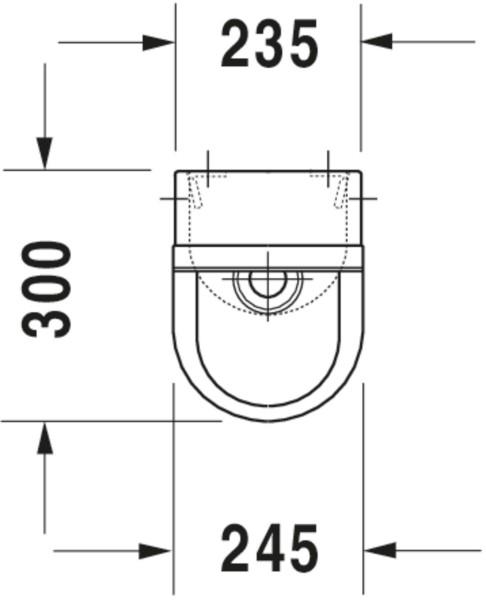 DU Urinal Starck 3, Zulauf von hinten rimless, ohne Fliege, weiß WG