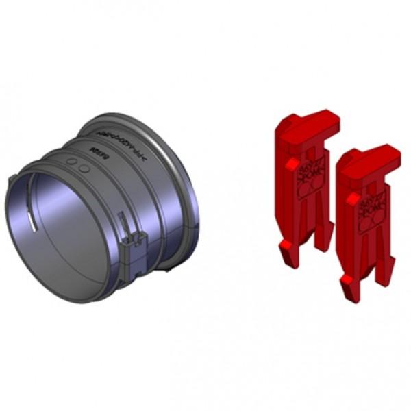 FRS-ES 75, FlexPipe Einzelstutzen Rund 75 mit Bajonett- Verschluss für Blechteile