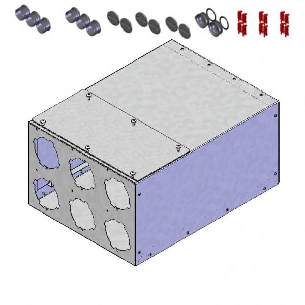 FRS-VK 6-75/125, FlexPipe Verteilerkasten 6 Einzelstutzen Rund 75 Anschluss DN 125