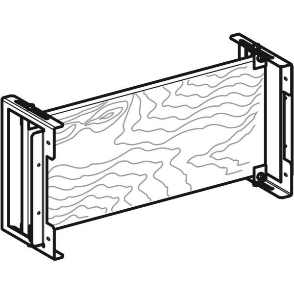 GE Duofix Montageplatte aus Holz, tiefenverstellbar