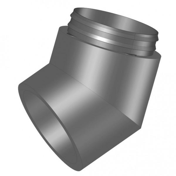 IP-B 180/45, IsoPipe 45 Grad Bogen mit Innenverbinder