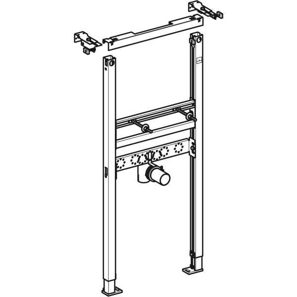 GE DuofixBasic Element für WT, 112 cm Standarmatur, Wandanker