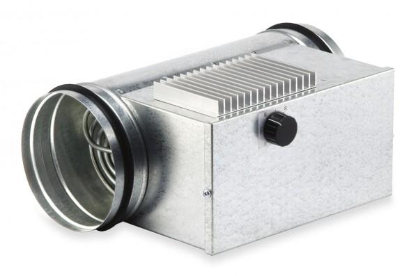 EHR-R 2,4/160 TR, Elektro-Heizregister 2,4 KW mit integr. Heizungsregelung, für Rohrdurchm. 160 mm