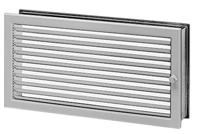 LGR 450/230, Lüftungsgitter regulierbar Stahl verzinkt, weiß lackiert