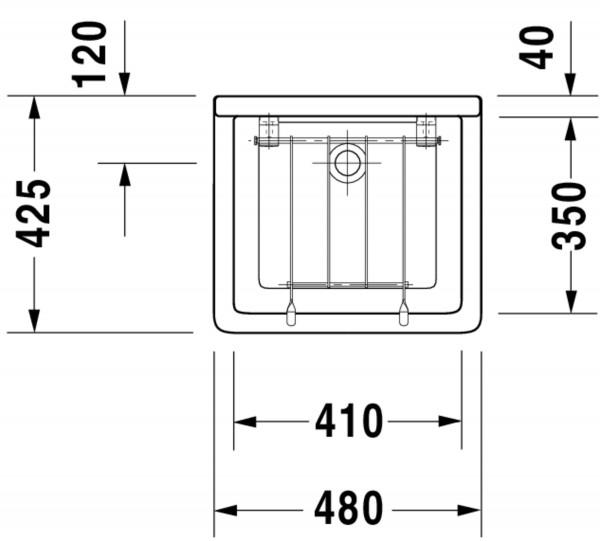DU Ausgussbecken Starck 3 480 mm ohne ÜL, ohne HLB, weiß