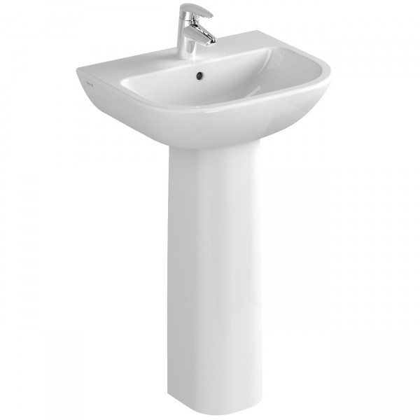 VT Waschtisch S20 500 x 420 mm Hahnloch Überlaufloch Weiß Hochglanz