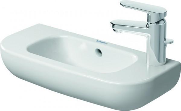 DU Handwaschbecken D-Code 500 mm mit ÜL, mit HLB, HL rechts, weiß