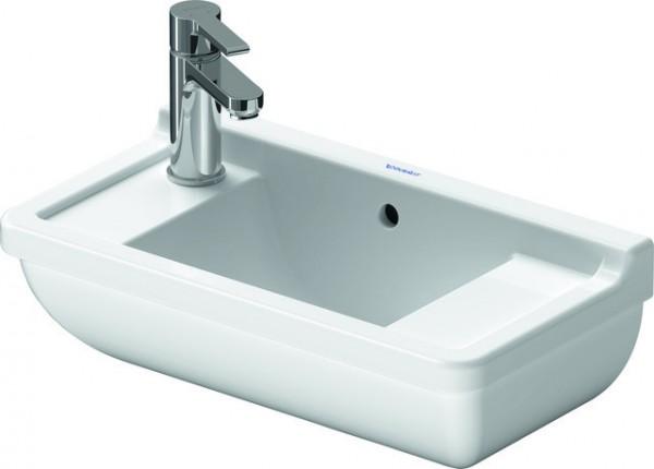 DU Handwaschbecken Starck 3 500 mm m.ÜL, m.HLB, HL-Vst. li./re., weiß WG