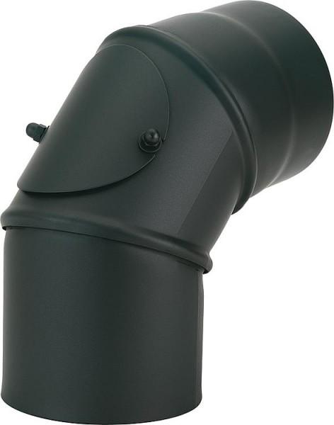 Lackierter Rauchrohrbogen, mit Reinigungstür DN150 0-90°