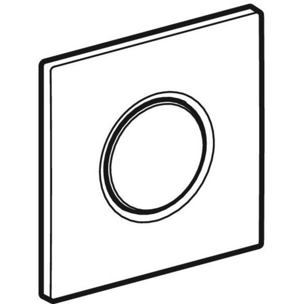 GE BetPl. Sigma01 zu UR-Strg. mit pneumatischer Sp-Ausl. mattverchromt