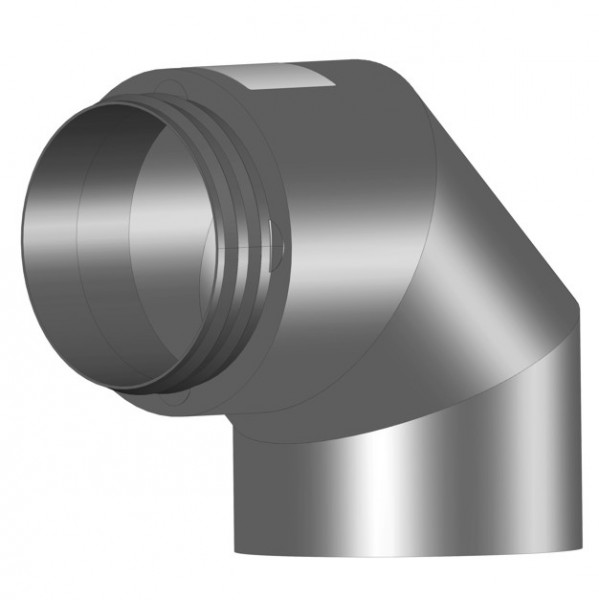 Helios IP-B 180/90 Grad IsoPipe 90 Grad Bogen m. Innenverbinder