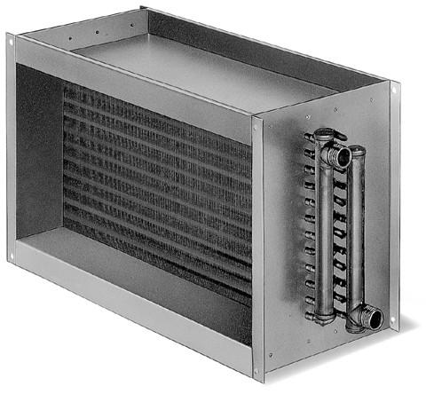 WHR 2/100/50, Warmwasser-Heizregister für Rechteck-Kanäle